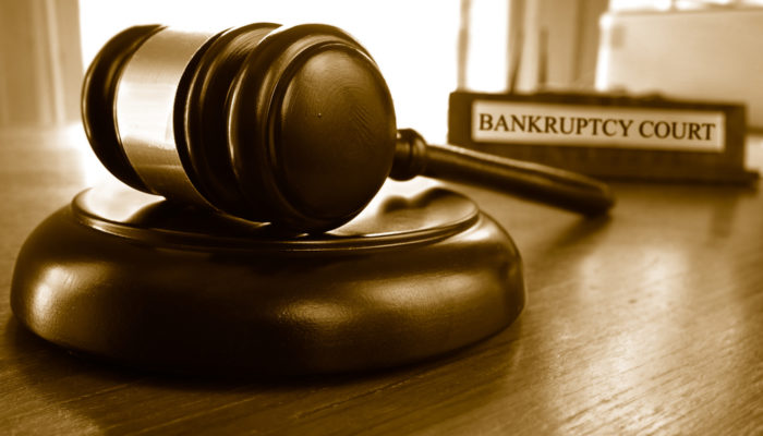 Bankruptcy law gavel